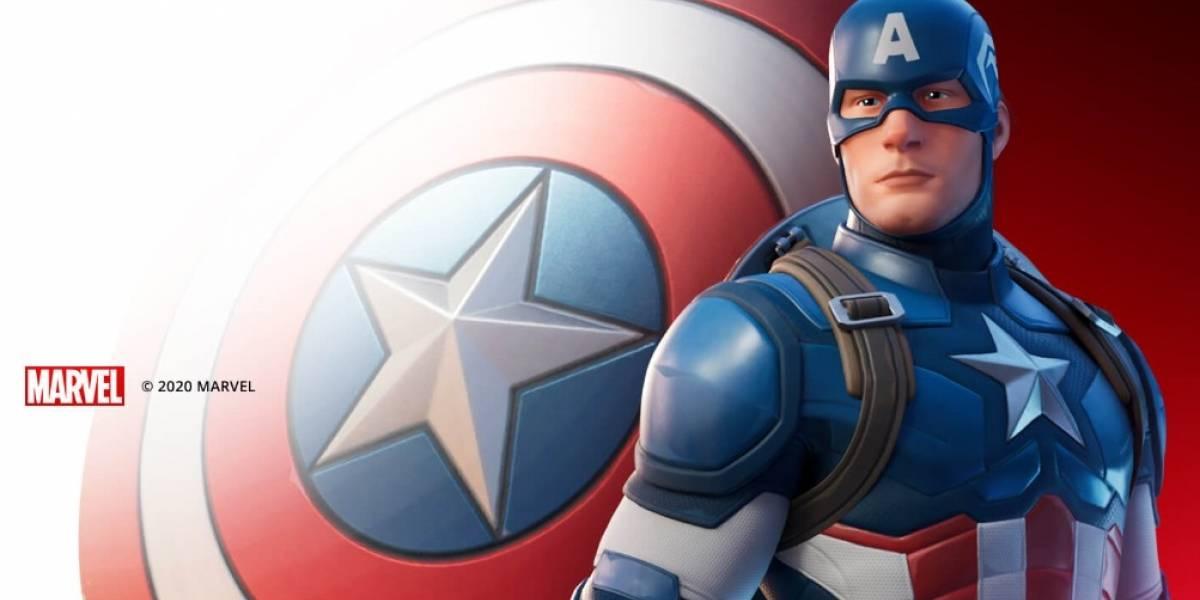 Capitán América aparece en Fortnite y se genera el revuelo entre los usuarios