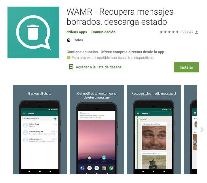 WhatsApp ver mensajes