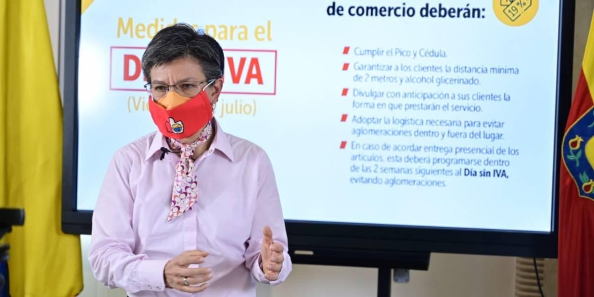 La sorpresa de Claudia López cuando conoció la fecha del tercer día sin IVA en Colombia