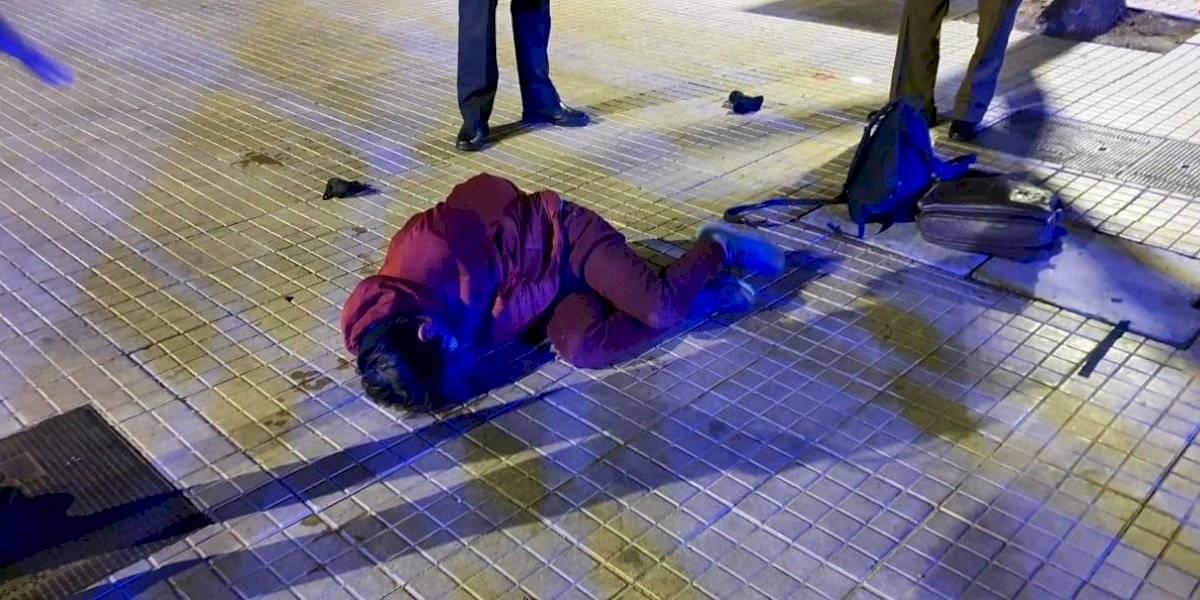 Hombre agredió con piedra a inspector municipal de Las Condes al ser sorprendido sin permiso temporal