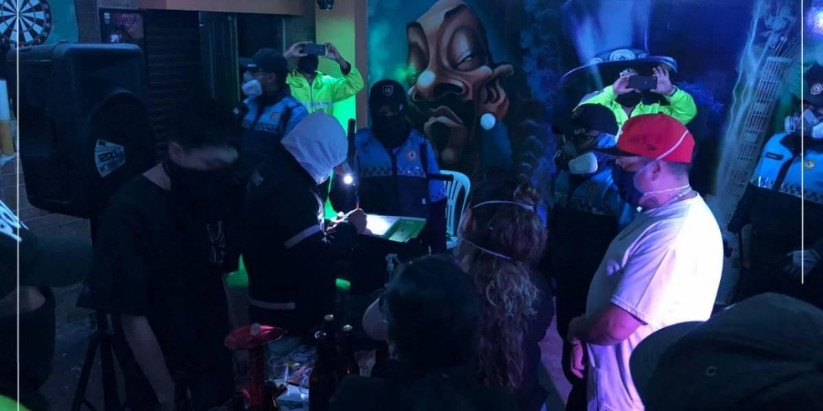 Autoridades intervinieron una fiesta clandestina en Chillogallo, en el sur de Quito
