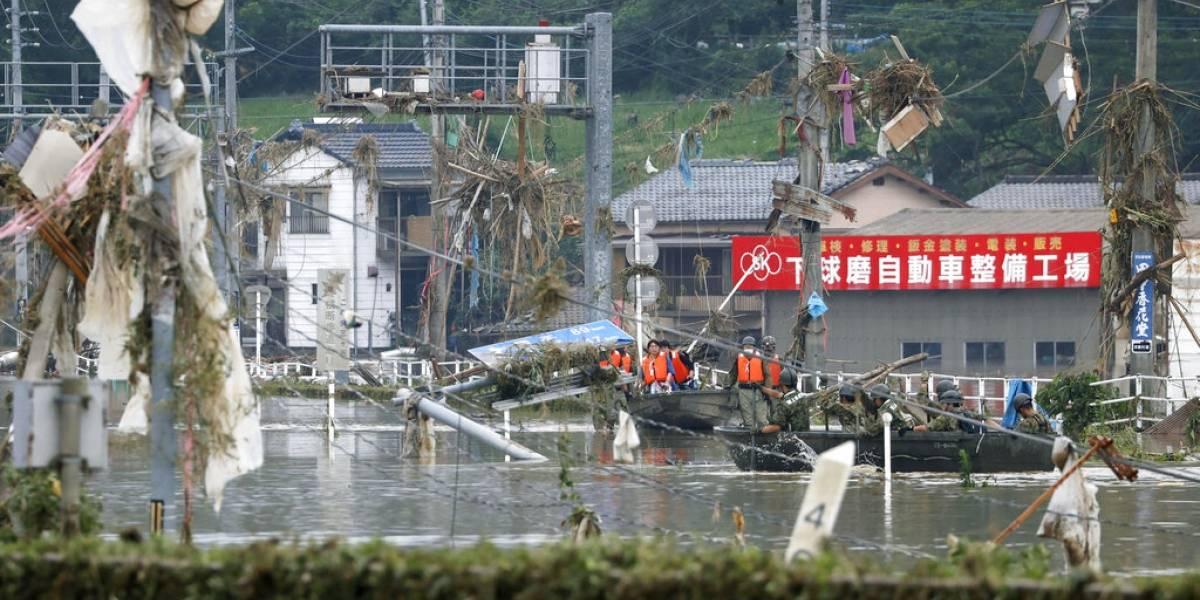 Fuertes aguaceros dejan 34 muertos en Japón