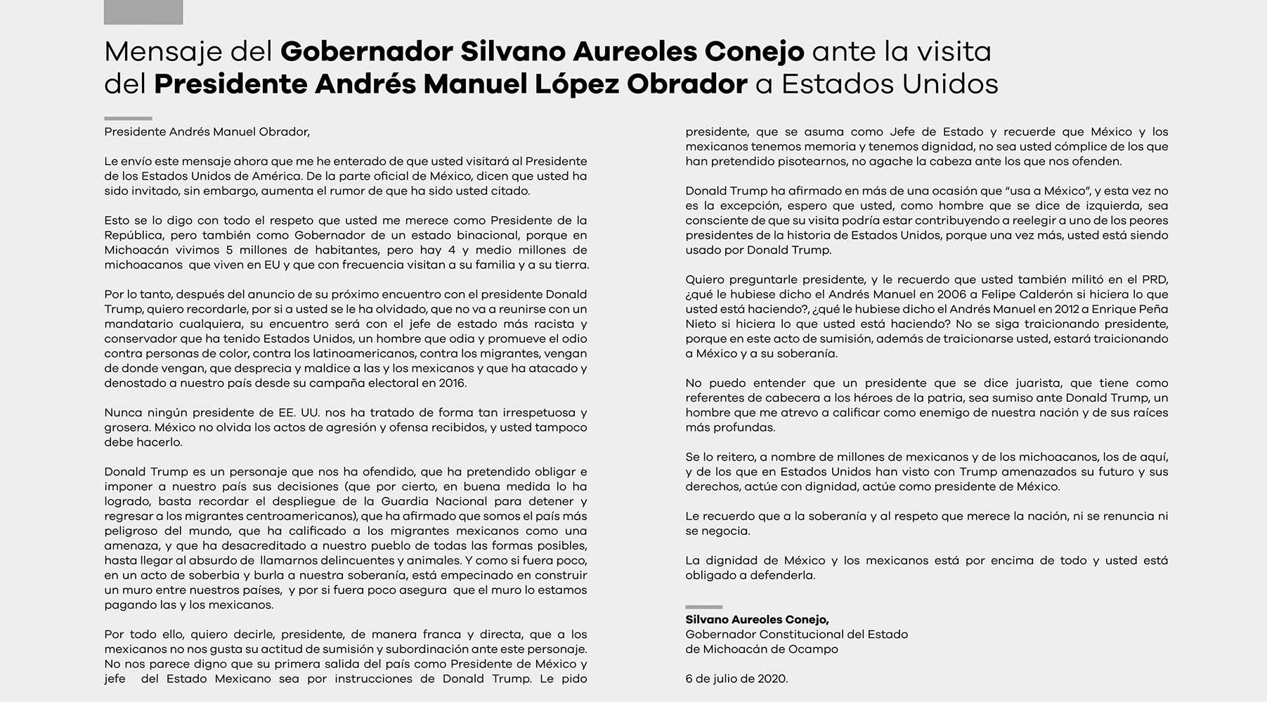 Anuncio Gobierno de México edición CDMX del 6 de Julio del 2020, Página 06