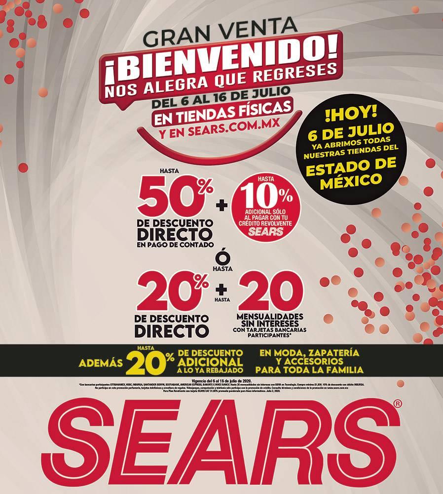 Anuncio Sears edición CDMX del 6 de Julio del 2020, Página 16