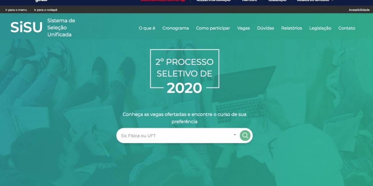 Sisu 2020.2 abre inscrições nesta terça para 51 mil vagas no ensino superior público