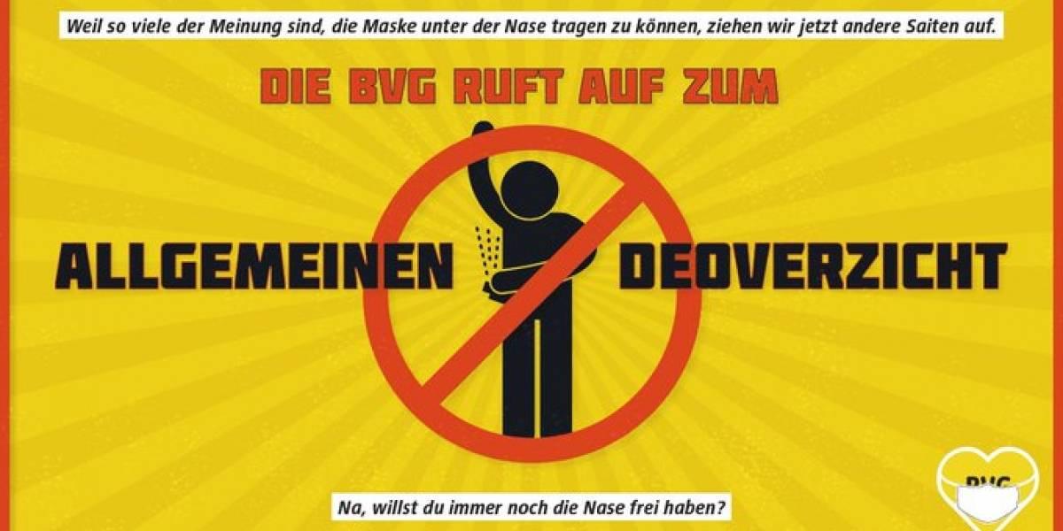 Metro de Berlín llama a descuidar la higiene para impulsar el uso de mascarillas
