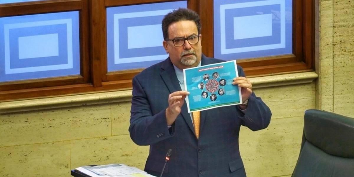 Denis Márquez radica segundo informe sobre compra de pruebas COVID-19
