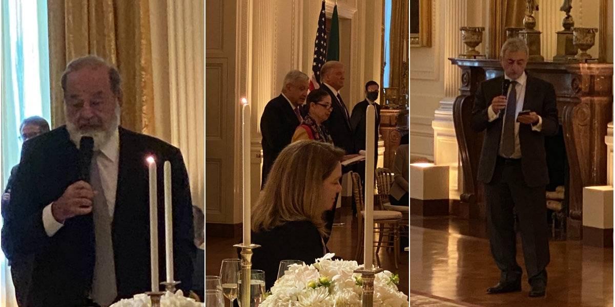 FOTOS: La exclusiva cena de AMLO, Trump y empresarios en EU