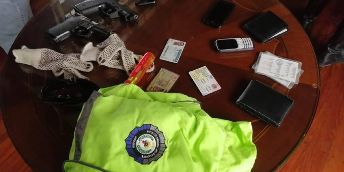 Cuenca: Capturan a cuatro delincuentes disfrazados de policías