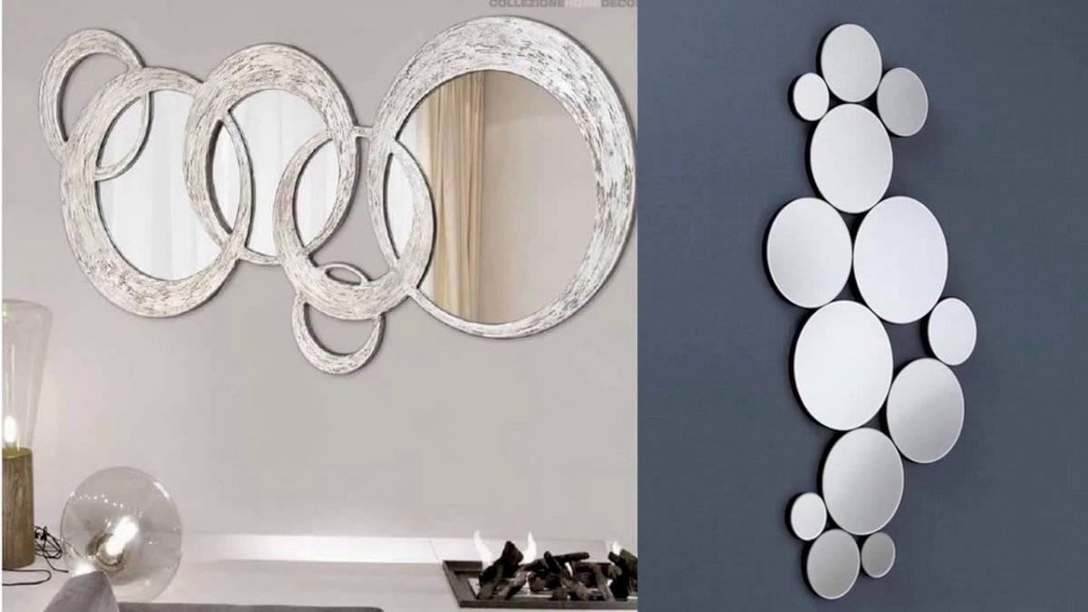 Una pared llena de espejos agranda en gran medido tu hogar.