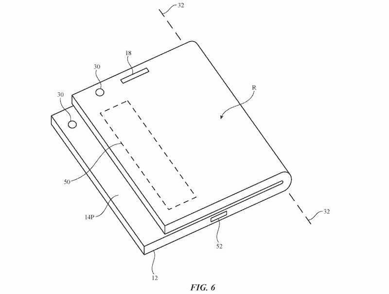 Apple patentó un smartphone plegable asimétrico y es raro