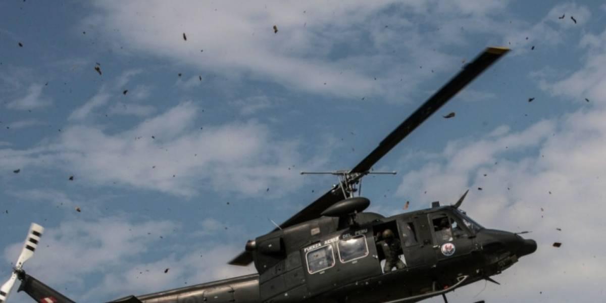 Mueren siete personas tras accidente de helicóptero de la Fuerza Aérea de Perú