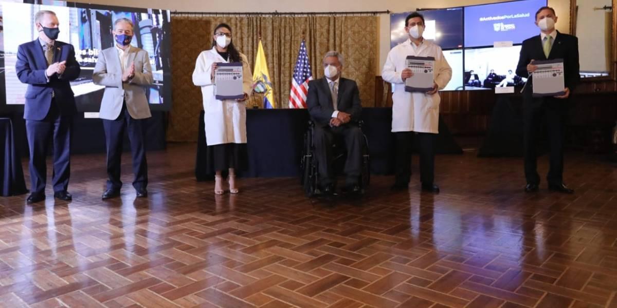 Hospitales del Ministerio de Salud Pública  recibieron ventiladores donados por Estados Unidos