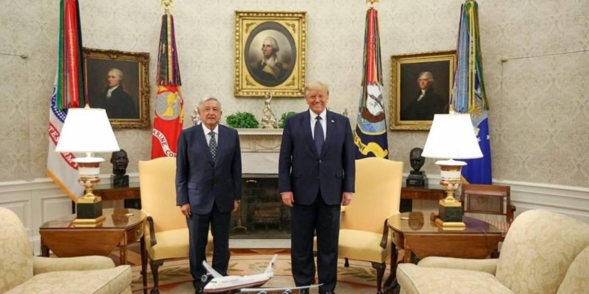 """AMP.- EEUU.- López Obrador y Trump firman una declaración para """"mantener los lazos"""" tras la entrada en vigor del TMEC"""