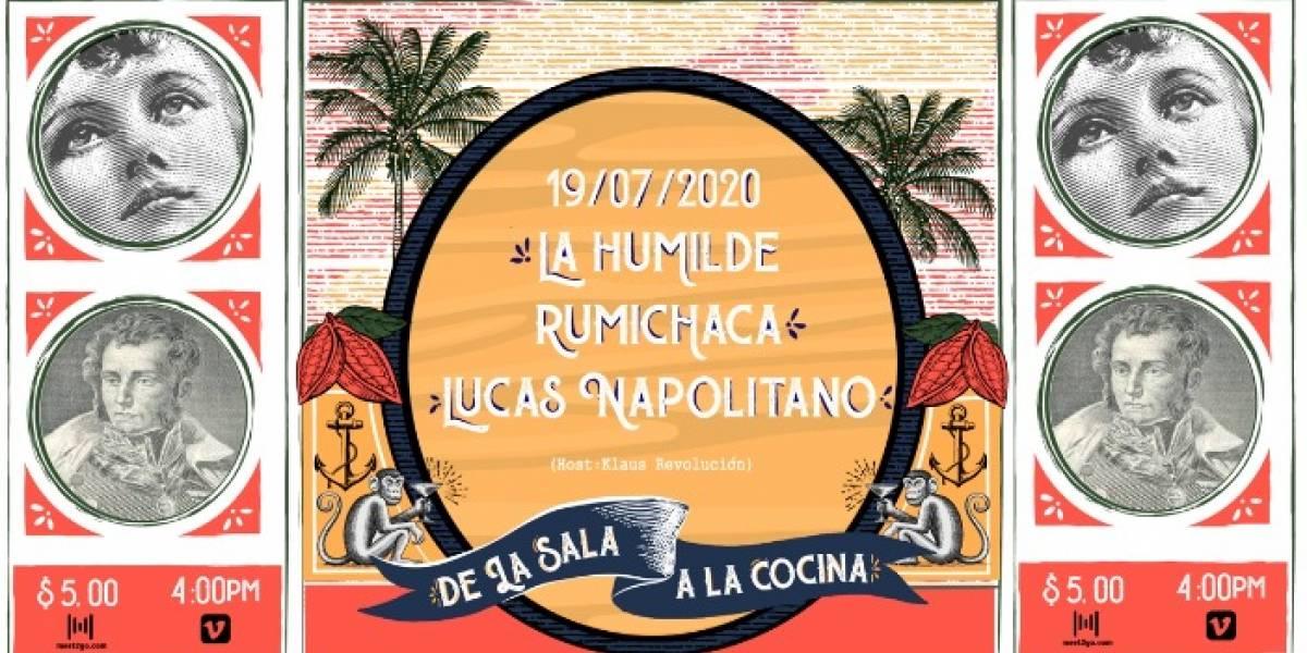 """""""De la sala a la cocina"""", el live que une a Rumichaca, La Humilde y Lucas Napolitano"""