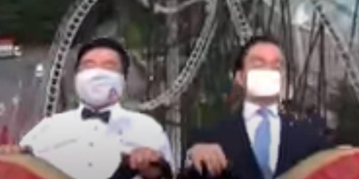 Vídeo: Em tempos de covid-19, não se pode mais gritar em montanha russa