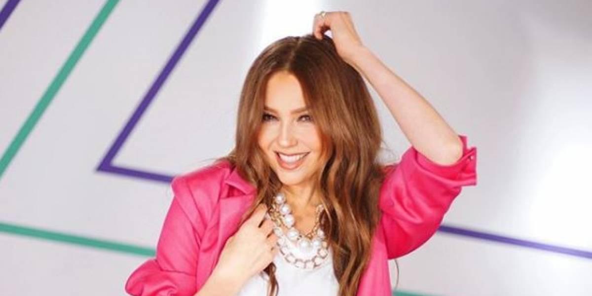 Thalía enamora a sus fans posando con una corona al estilo de 'María la del barrio'