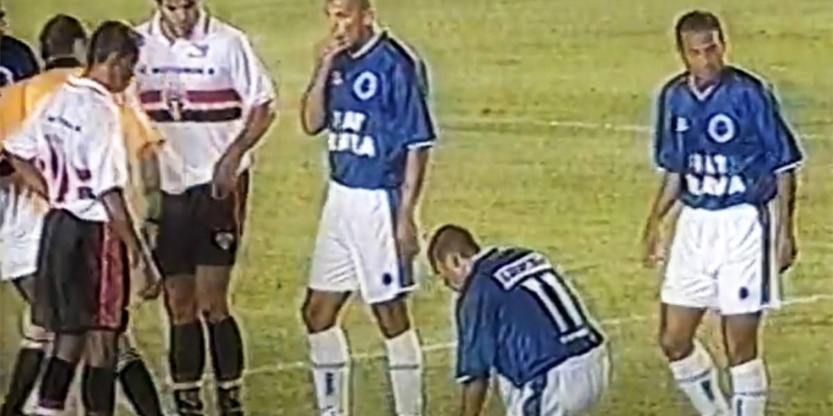 Band exibe virada do Cruzeiro sobre o São Paulo na final da Copa do Brasil de 2000