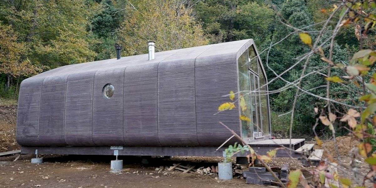 """Wikkelhouse"": la casa holandesa envuelta en lana de oveja que llegó a Chile"
