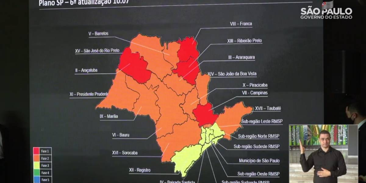 Cidade de São Paulo permanece na fase amarela de flexibilização da quarentena