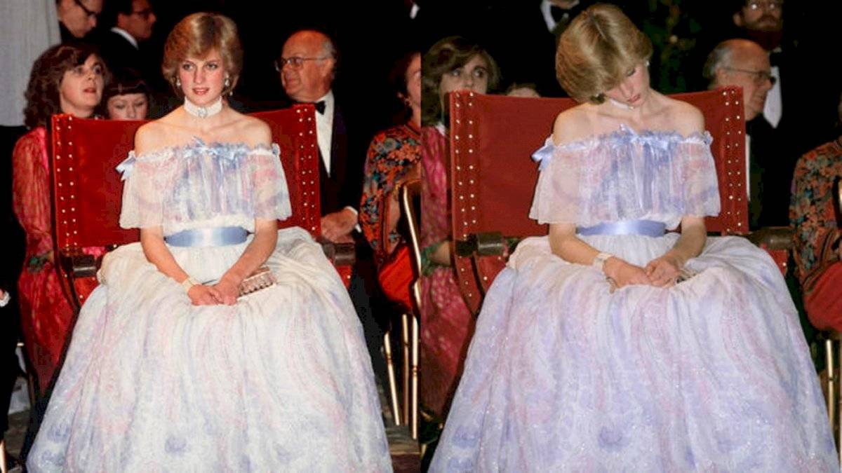 La princesa Diana comenzó a cabecear y, de pronto, cayó en un sueño profundo en pleno evento y ante la mirada de todos.