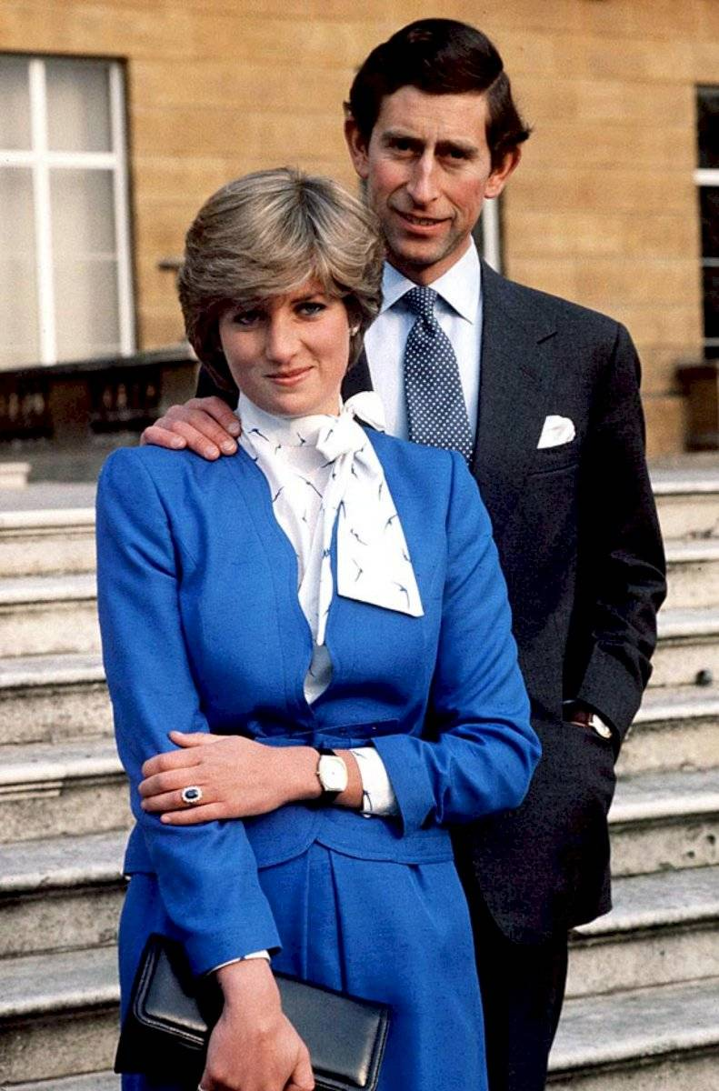 La princesa Diana junto al príncipe Carlos