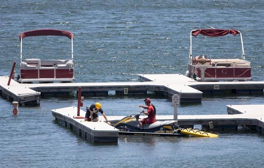 Acciones de búsqueda en el lago por la desaparición de Naya Rivera