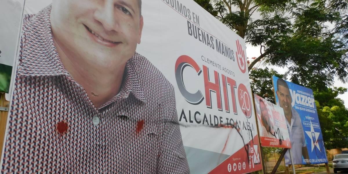 Vandalizan material de campaña de todos los candidatos en Toa Alta