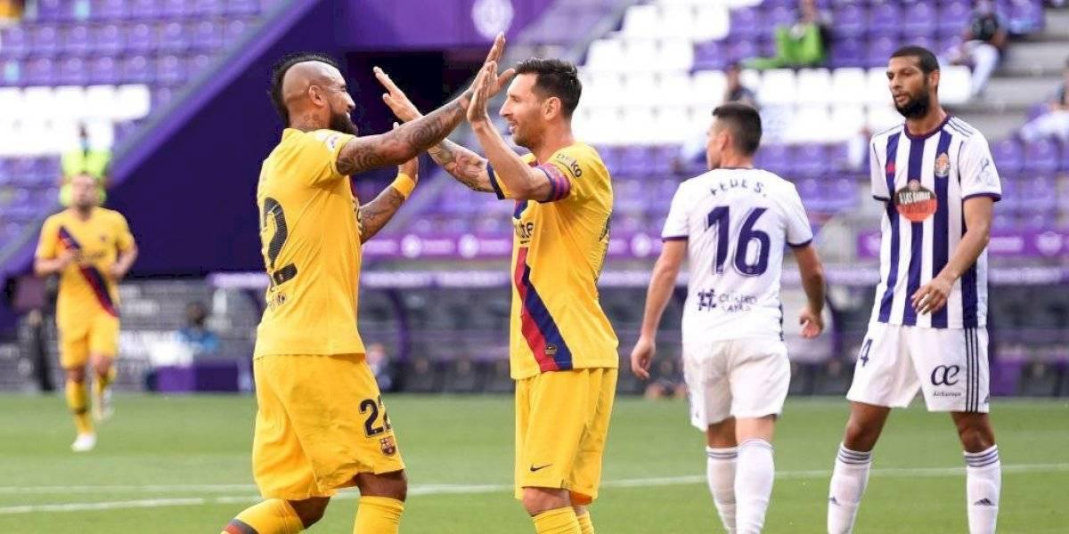 Barcelona sufre, pero consigue agónico triunfo frente al Valladolid