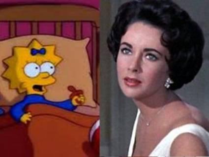 Los Simpson Elizabeth Taylor