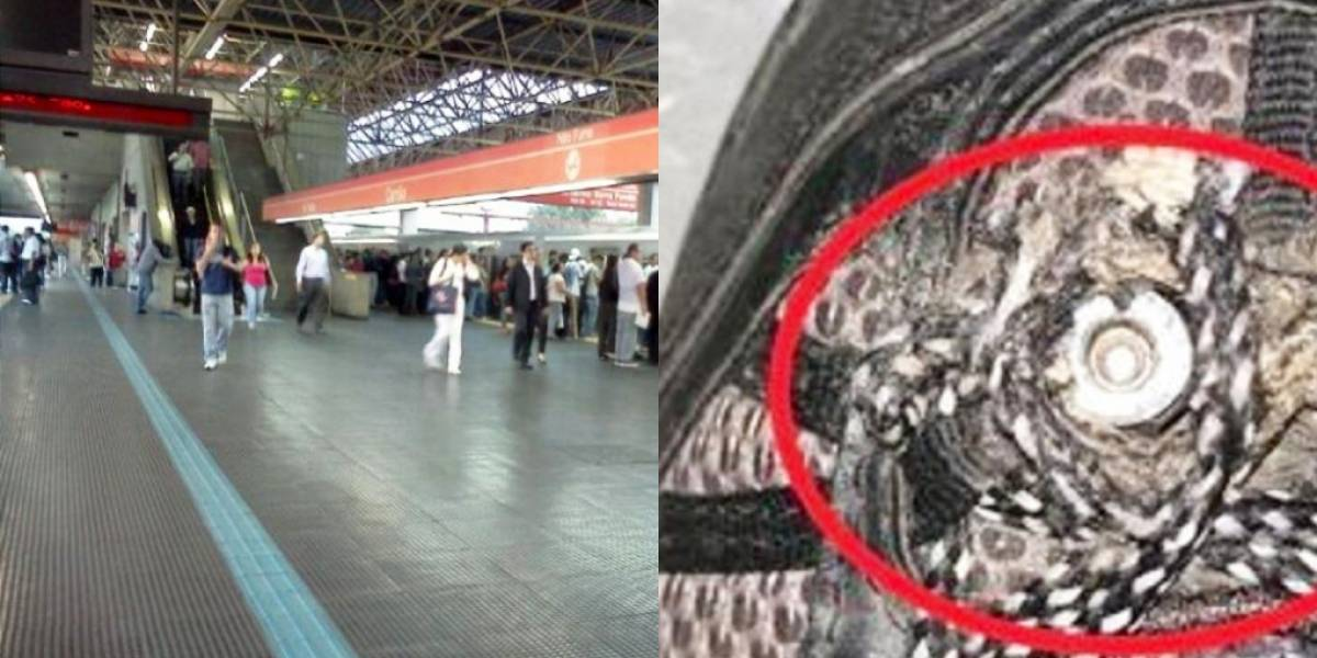 Homem usava câmera no tênis para filmar mulheres no metrô de São Paulo