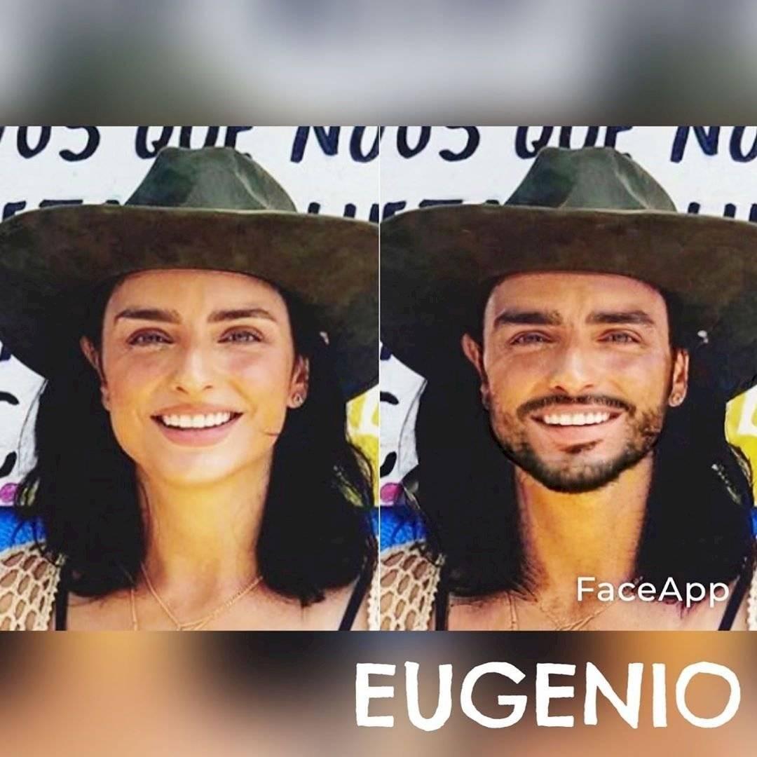 La aplicación mostró el gran parecido entre Aislinn y Eugenio Derbez