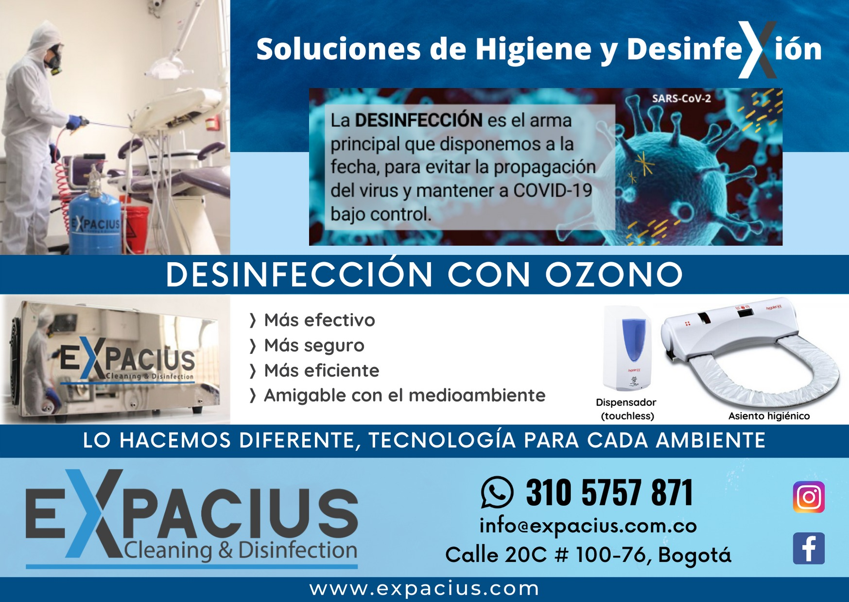 Expacius: Soluciones de higiente y desinfección