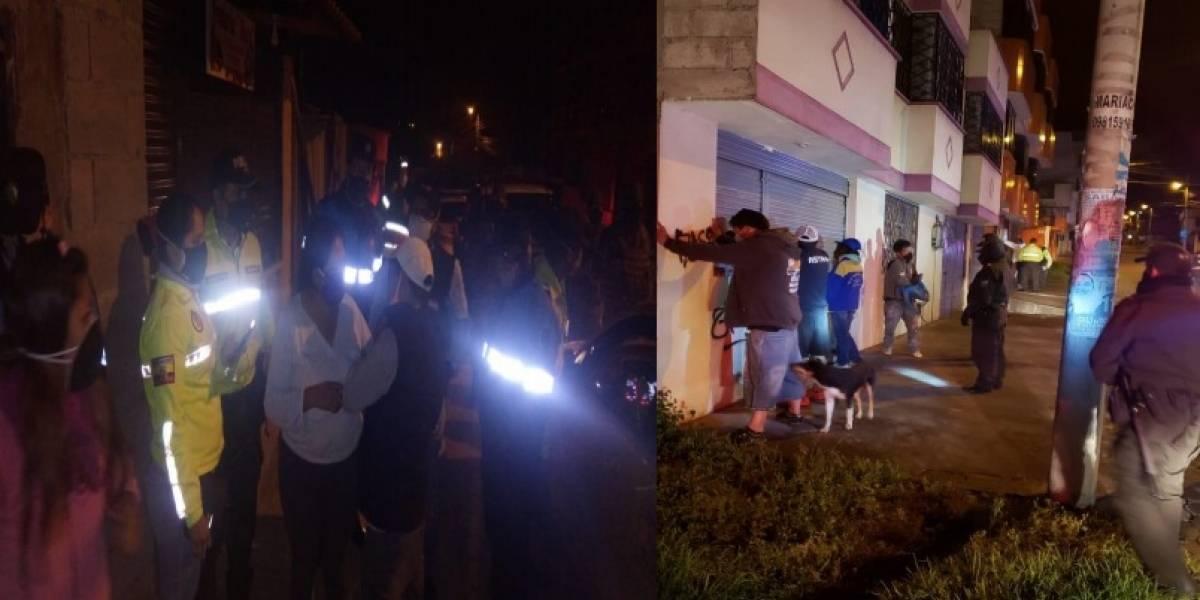 Quito: 148 personas sancionadas por toque de queda en un fin de semana