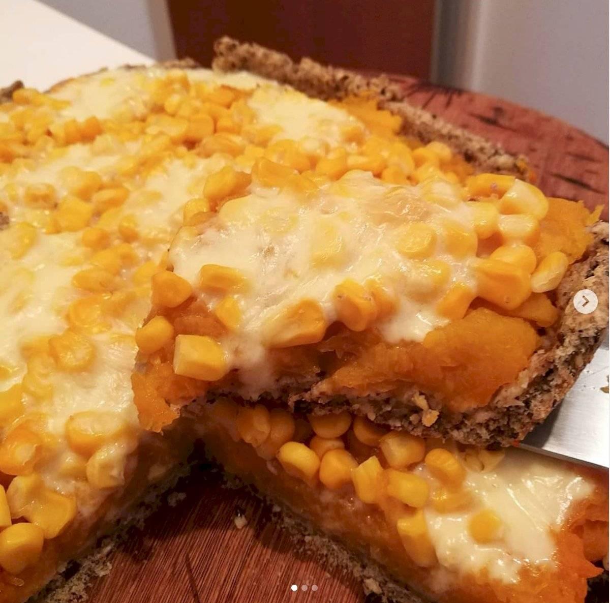 tarta de calabaza y choclo