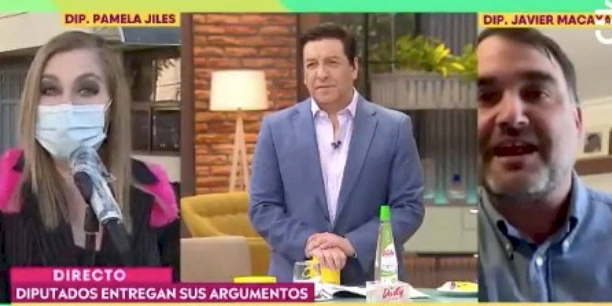 """Pamela Jiles y el round contra Javier Macaya por retiro de fondos: """"¿No te da vergüenza lo que va a pasar si esto no se aprueba?"""