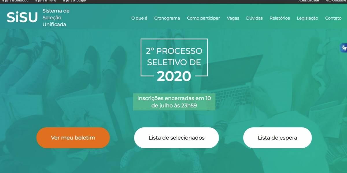Matrícula dos aprovados no Sisu 2020.2 começa nesta quinta-feira