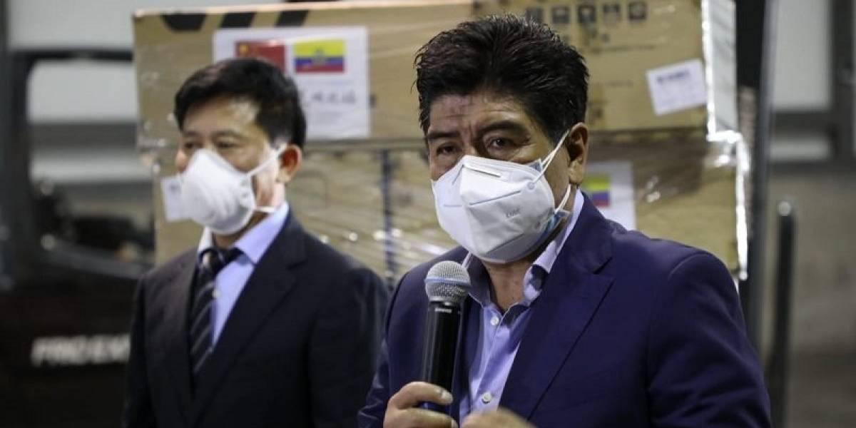 Embajada de China donó al Municipio de Quito 20 mil mascarillas quirúrgicas y 30 mil mascarillas KN95