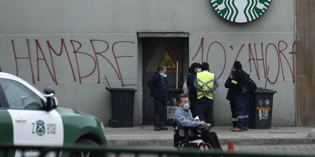 Detienen a sujeto por rayar en alrededores del Congreso consigna a favor de retiro de fondos de AFP