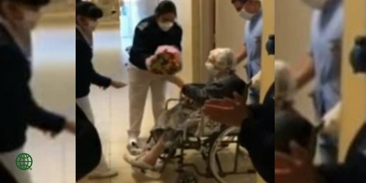 Mujer de 101 años supera entre aplausos el coronavirus