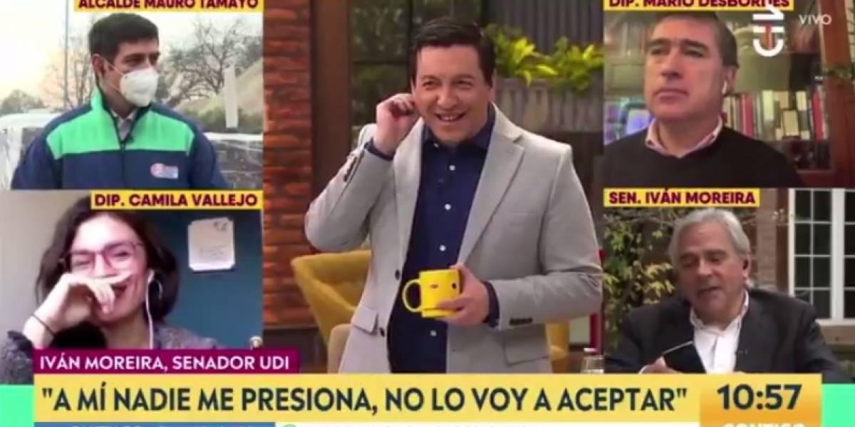 """""""El Gobierno mandó a la UDI a la UTI"""": El tremendo fail con un ringtone que sufrió Iván Moreira en pleno matinal"""