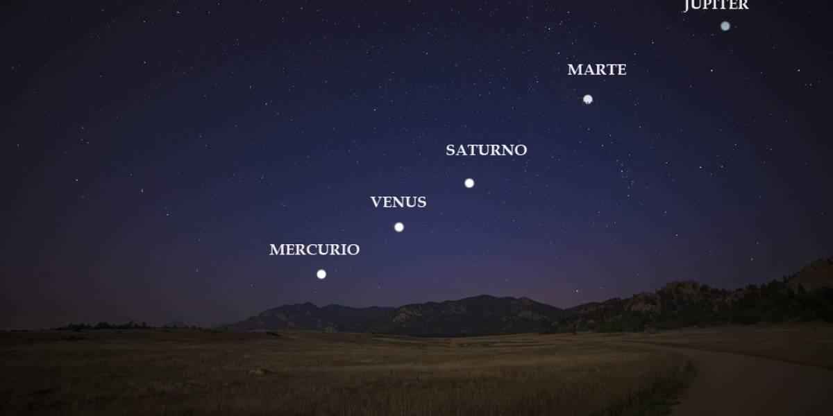 Espacio: El 19 de julio podrás tener a Mercurio, Venus, Marte, Júpiter y Saturno a simple vista