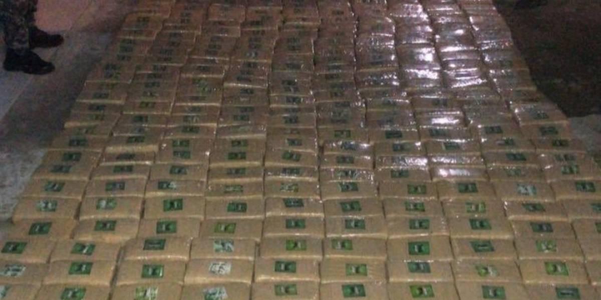 Incautan 500 kilos de droga en el sur de Quito
