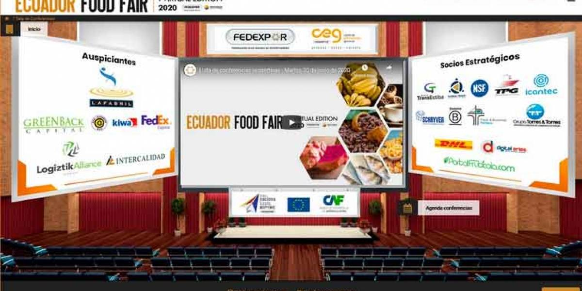 "La primera feria virtual ""Ecuador Food Fair"" recibió 8.800 visitantes"