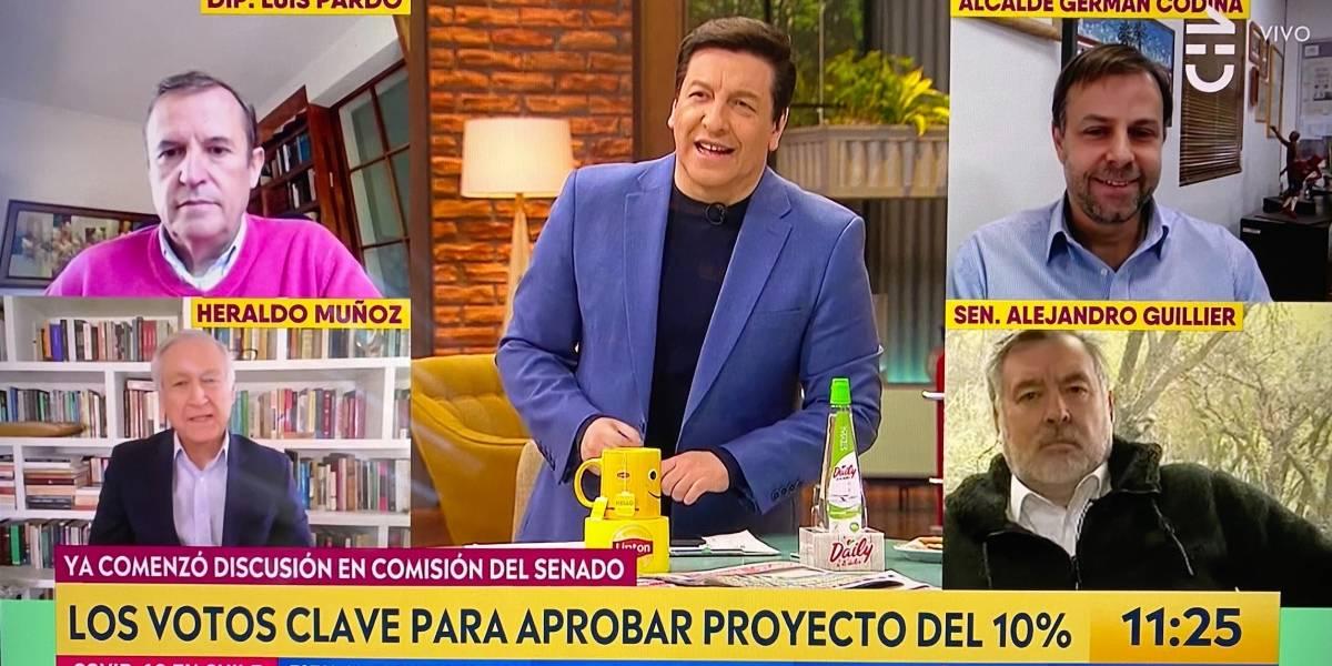 Presidente del PPD vuelve a llamar la atención al aire a matinal de CHV por no incluir mujeres en su panel