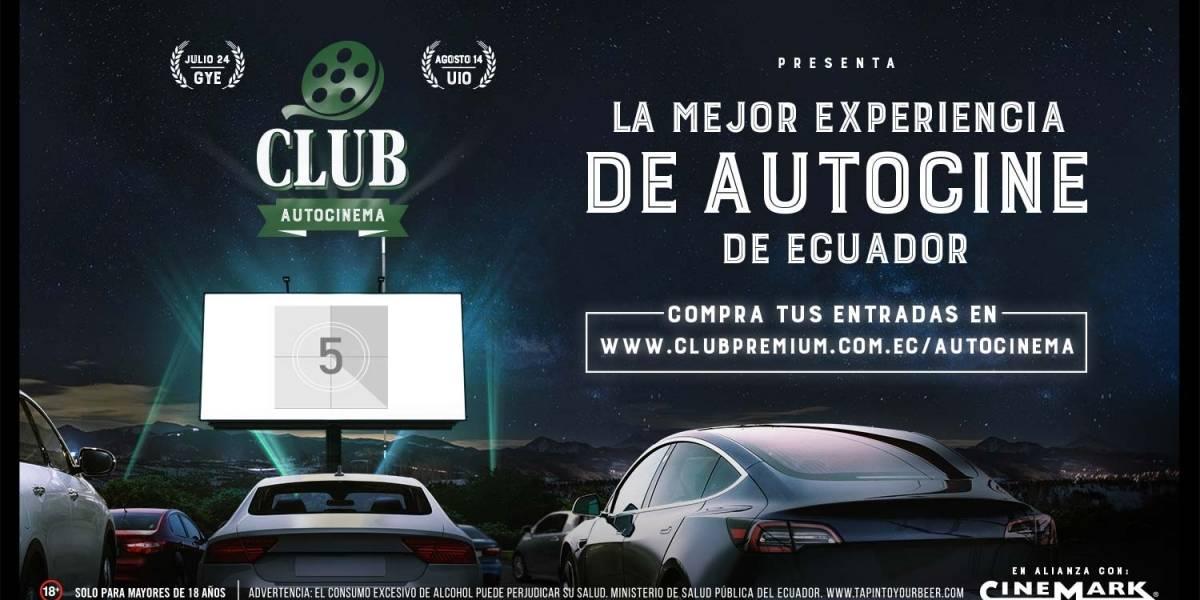 Club Autocinema llega con tres cintas a Quito, tras su éxito en Guayaquil