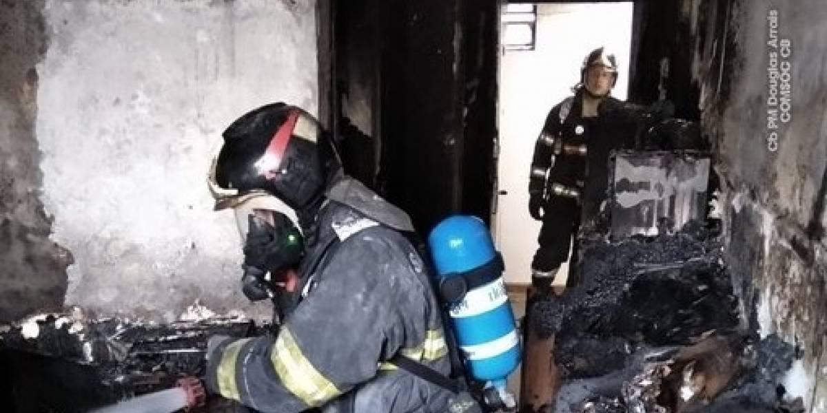 Mulher pula do sétimo andar de prédio em chamas na Bela Vista