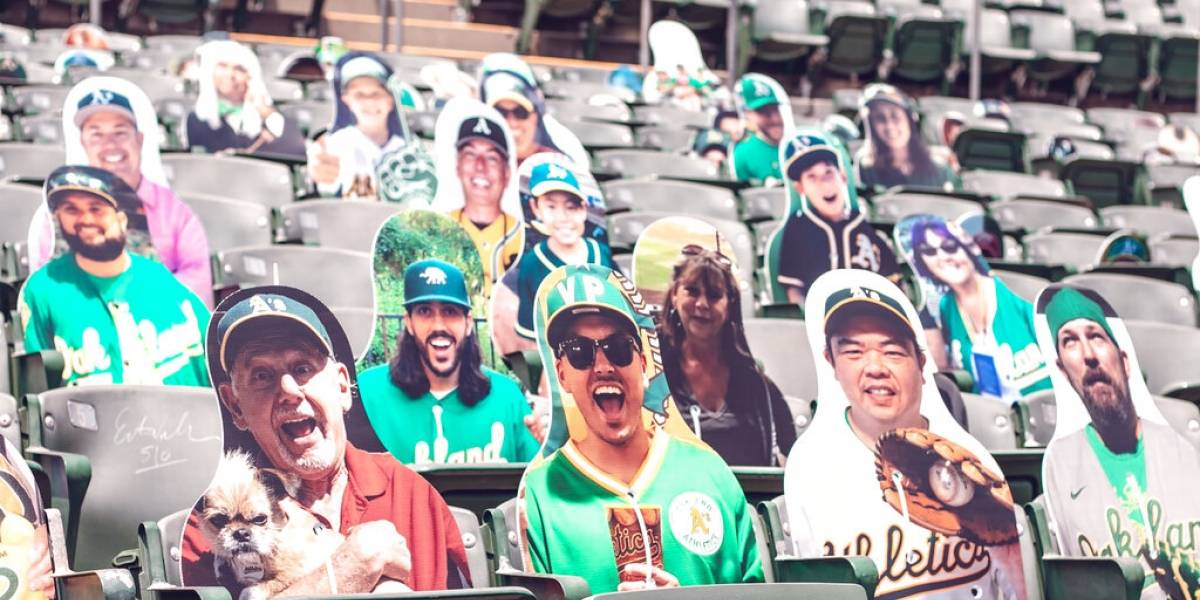 Imágenes de aficionados llenarán gradas de estadios de Grandes Ligas