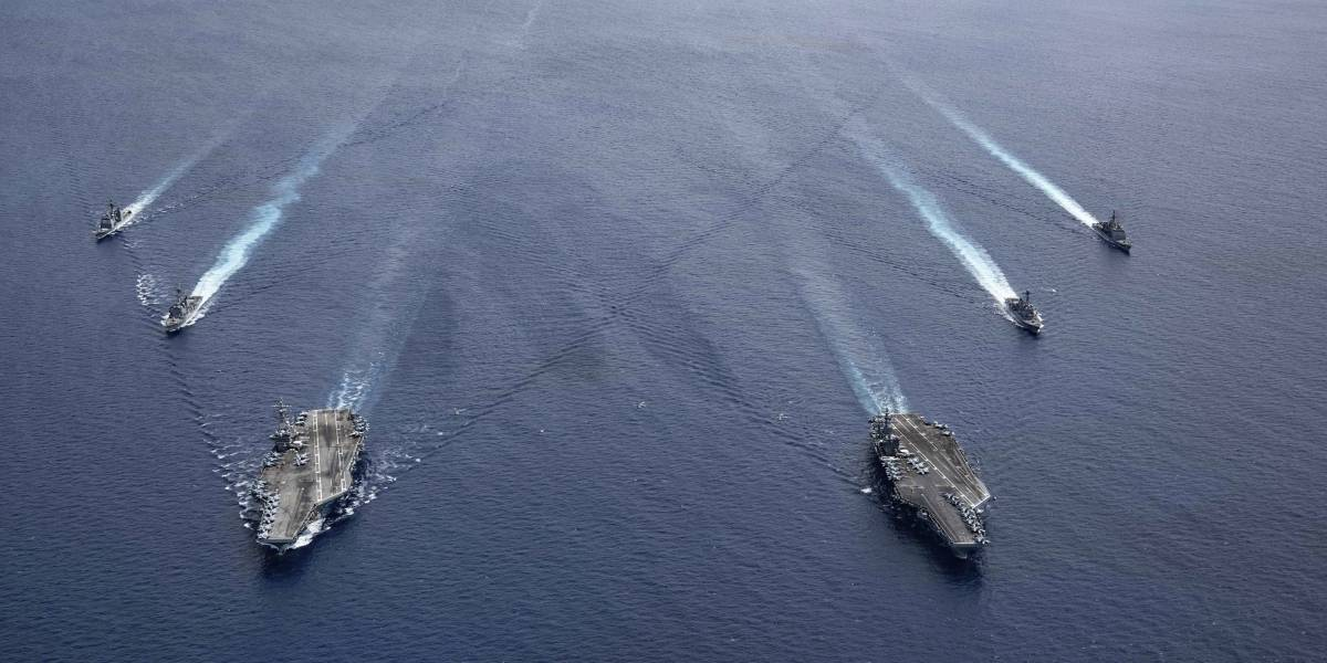 Estados Unidos despliega portaaviones en el mar de China Meridional
