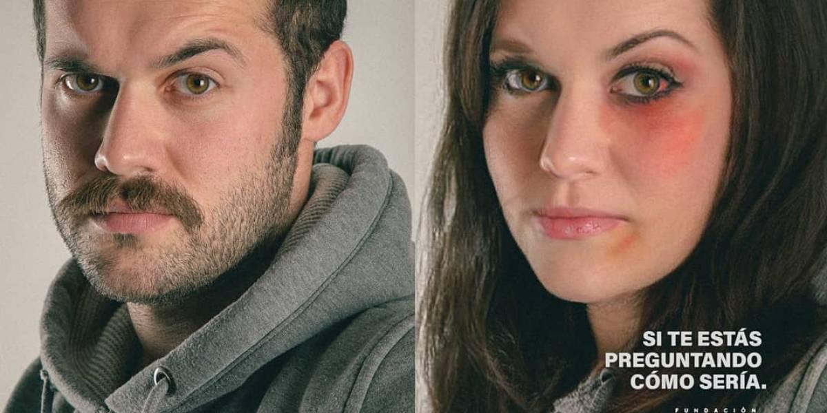 La campaña muestra qué pasaría si un hombre fuera violentado como las mujeres